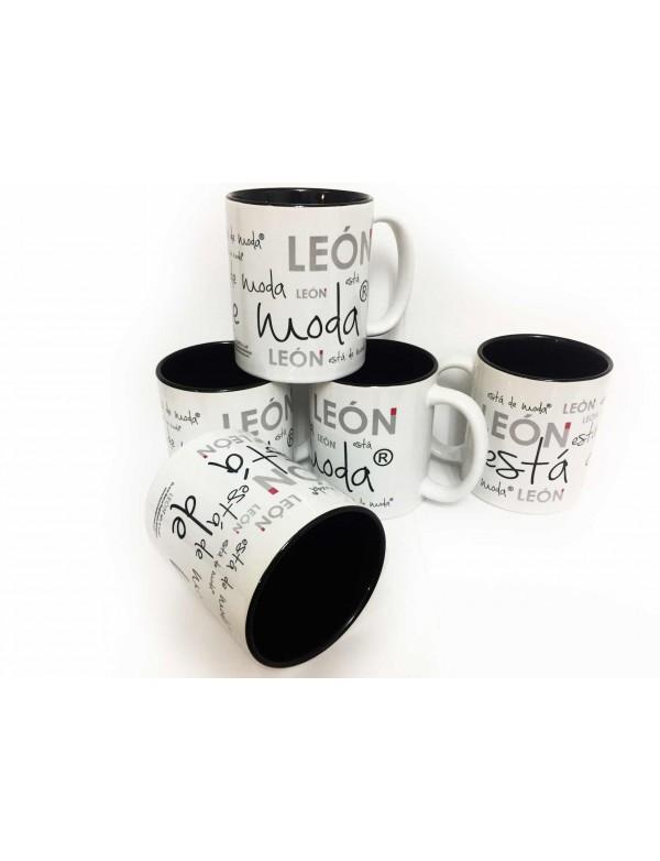 6 Tazas Ceramica LEÓN